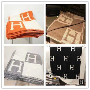 High quality blanket crochet soft wool scarf portable warm tartan sofa bed wool style blanket 85% wool 15% cashmere 135*165cm