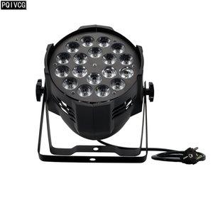18x18w led nominale DMX LED rgbwa uv 6in1 plat par lumière matériel d'éclairage de scène professionnelle