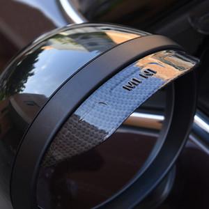 Mini Cooper S Bir gün JCW R60 Aksesuarları için 2adet Evrensel Araç Dikiz Aynası Yağmur Kaş Gölge Baffle Siperlik Su geçirmez Kapak