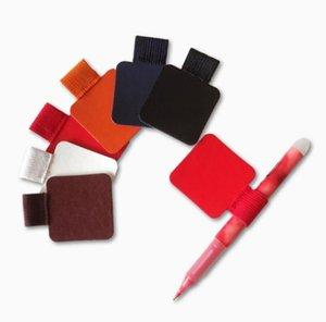Holders 3pcs Self-adhesive Leather Pen Clip Pencil Elastic Loop for Notebooks Journals Clipboards Pen Holder