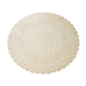 PVC Nordic Style Placemat Round Table Cup Drink Coaster 38 centimetri