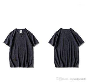 Tees Kleidung Kurzärmlig Male Hommes Tops Pure Color Herren Designer-T-Shirts Sommer-Art- und O Ansatz