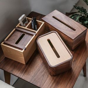 Walnussholz Tissue Box-Halter-große rechteckige Tissue Box Cover / Holzhalter / Papierspender / Facial-Gewebe-Halter für Hauptdekor