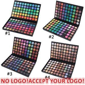 No logo!120 Colors matte glitter Eyeshadow Palette waterproof Matte Eye Shadow cream accept customized logo!