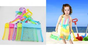 25 * 24см Дети Детские Портативный Mesh Seashell песка Пляжная сумка Игрушки Receive хранения сумки Песочницы Away Cross Body Mesh Bag 5 цветов B5161