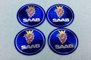 56.5mm 65mm Casquillo del Eje de la Rueda Emblema del Coche Centro Para SAAB 9-3 9-5 93 95 BJ SCS Badge wheel Decal Sticker