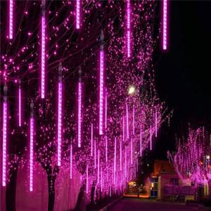 30 cm 50 cm 80 cm ao ar livre meteor chuveiro chuva 8 / 10Tubes LED luzes de corda impermeável para decoração de festa de casamento de Natal Crestech
