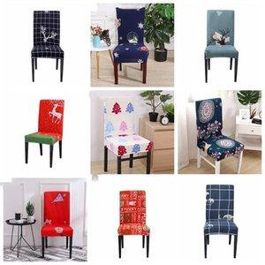 Noel Sandalye Spandex Çıkarılabilir Sandalye Kapak Stretch Yemek Koltuk Kapaklar Elastik Slipcover Noel ev partisi dekorasyon LXL708-1 Kapaklar