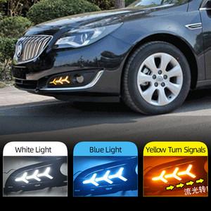 2PCS LED İçin Buick Opel Regal Insignia 2013 2014 2015 DRL Gündüz Işıklar Günışığı ile Sinyal ve Gece mavi lamba açma Running