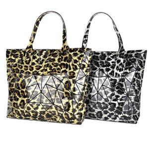 Neue Damen des Art und Weiserautenmusters sacken die große Kapazität ein, die geometrischen Schulterbeutel-PU-Leopardgriff-Handtaschengroßverkauf faltet