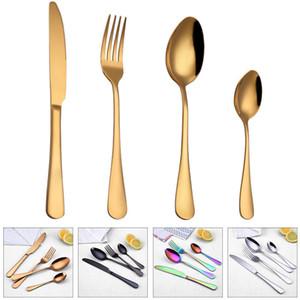 Vajilla del Alto grado de cucharas cuchillo Tenedor cucharadita Juego de cubiertos de cena cuchara Vajilla Cubiertos Sets accesorios de cocina