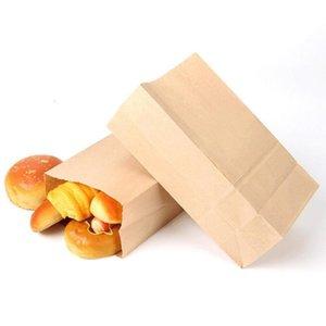 La bolsa 50pcs Papel Kraft desayuno Bolsa de West Point de envasado de aceite a prueba de Plaza de embalaje de papel para hornear pan inferior Ba R7L0