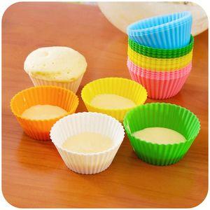 7CM 컵 케이크 실리콘 케이크 컵 금형 케이크 머핀 케이스 실리콘 초콜릿 금형 단일 컵 케이크 홀더 베이킹 도구 무료 배송