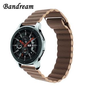 Bracelet milanais en cuir avec boucle de montre 22mm 20mm pour Samsung Galaxy Watch 46mm bande active de 42mm à aimant Bracelet à relâchement rapide Bracelet Y19052301