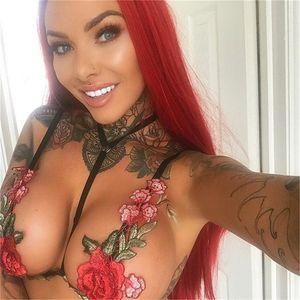 Rose Stickerei Tanks Nachtclub Mode Hosenträger Camis Backless Schwarz Appeal Tops Weste Frauen Sommer Sexy