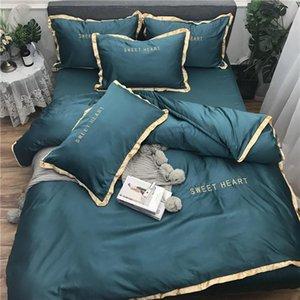 Сплошной цвет олень пододеяльник комплект 4 шт мягкие постельные принадлежности из микрофибры с застежкой-молнией реверсивный пододеяльник King Size