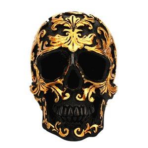 Resin Craft Skull Statues & Sculptures Garden Statues Sculptures Skull Ornaments Creative DIY Art Carving Statue