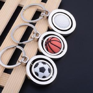 2018 Футбол Брелок Творческий Вращающийся Футбол Баскетбол Гольф Брелок Подвеска Подарки Партии Пользу подарок XD20175