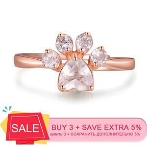 LAMOON 925 فضة للنساء مخلب الدب الكوارتز الأحجار الكريمة 18K وردة نوع ذهب قابل للتعديل حزام مجوهرات الجميلة RI027-2 Y200321