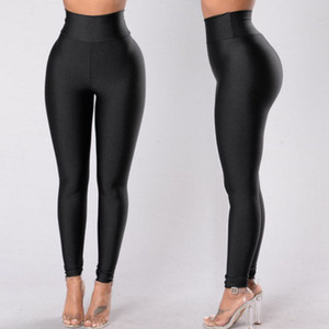 Nagelneuen Frauen Yoga Fitness Leggings Lauf Gym Stretch Sports hohe Taillen-Hosen-dünne Hosen Solide Einfache