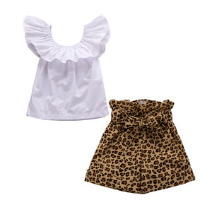 Toddler Kids Baby Girls Clothes Sets Tops T-shirt Shorts Bowknot Casual Summer Outfits Clothes Girl