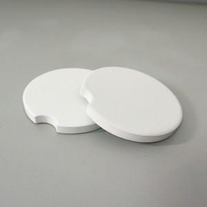 120pcs Süblimles¸me Boş Araç Seramik Coasters 6.6 * 6.6cm Sıcak Transfer Baskı Coaster Blank Sarf Malzemeleri Altlıkları RRA3499
