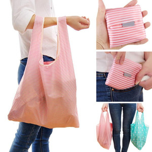 Portable Large Size Shopping Bags Foldable Grocery Bag Reusable Home Storage Bags Shipping Tote Bags With Pouch Packaging 6 Styles Choose