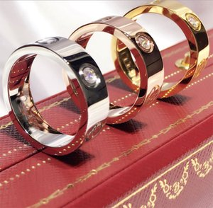 Hot Boutique 316L Love Titanium Steel Nails Rings Lovers Band Rings Size For Women And Men Brand Jewelry