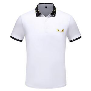 mens camisa grife polo olhos cópia bonita Top camisetas para a Itália Moda camisa pólo homens alta rua Etiquetas de algodão t-shirts