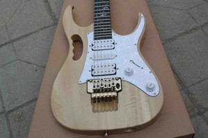 Custom Electric guitar in natural mahogany body neck maple fingerboard free shipping