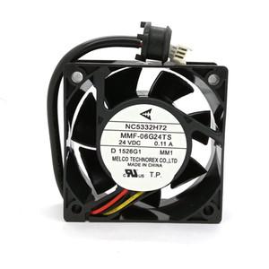 미쓰비시 서보 NC5332H72 MMF-06G24TS MM1 DC24V의 0.11A의 60x25MM 새로운 원래 인버터 팬
