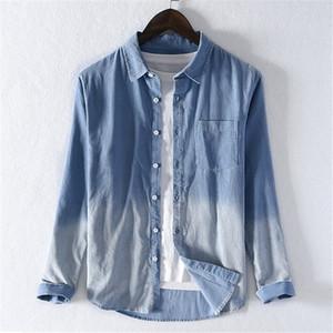 Erkekler gündelik pamuk kadife uzun kollu gömlek 2019 sonbahar yeni erkek Kare Yaka Gömlek 9309 Üst