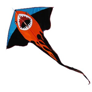 New High Quality 2 m Power Cartoon Shark Kite   Crocodile Kite With Handle and Line Factory Outlet Good Flying