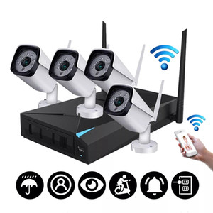 Camera 4CH Wireless Wi-Fi 1080P IP HDMI NVR Outdoor Home Security Camera System CCTV IR - spina degli Stati Uniti