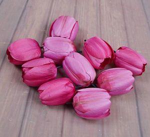 Simüle Lale LED Simüle Çiçek Aksesuarlar Salon Yatak Odası Dekorasyon Çiçek Pastoral Stil 100pcs / lot WL332