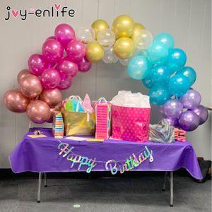 JOY-ENLIFE 38pcs / комплект Пластиковых Balloon Arch Kit Birthday Party Wedding Balloon Arch украшение партия Baby Shower фестиваль принадлежность SH190923