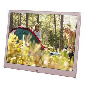 12 بوصة METAL LCD Digital Photo Frame HD 1280x800 Electronic Album USB Digital Picture Music Video Player Candal Clock T200320