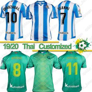 Fútbol verdadero Jersey Sociedad ISAK OYARZABAL X PRIETO 2019 2020 Odegaard WILLIAN ILLARRA Hombres Niños camiseta de fútbol kit tercer Camisetas de Fútbol