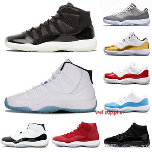 sale Hot 11 11s breed Cap and Drop Men Baseball Shoes Red PRM Heiress Concord 45 Cold Grey women men shoes sneaker