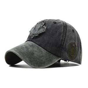 2020 new explosion models Canadian maple leaf pattern baseball cap men and women cotton wild cap