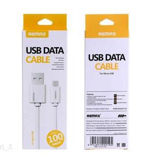 Hot Remax Micro USB tipo C Móvel Cabo de telefone Cabo de Dados Carregador Rápido para Samsung HTC LG com caixa branca varejo