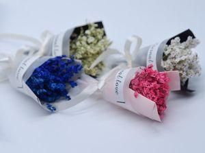 Mini fleurs séchées Bouquet de fleurs séchées naturelles avec ruban cadeau de fête mariage décoratif fleurs Boutique Shop Home Decor