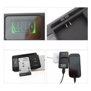 100pcs lot US Typle Mobile Phone Battery Charger Cellphone Universal Charger With LCD Display and 1250mAh Output