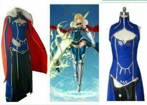 Grand Ordre Altria Pendragon Uniformes Alter Lancer cosplay costume