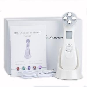 Mesoterapia Eletroporação face Radio Radio 5in1 RFEMS Beleza Pen Frequency LED Photon Rosto rejuvenescimento da pele removedor de rugas