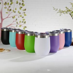 Kapak Bira Gözlük ayaksız Bardaklar ile 10 oz Paslanmaz Çelik Tumblers Taşınabilir İzoleli Su Şişeleri Multicolors Toptan CupsA02 şişeyi