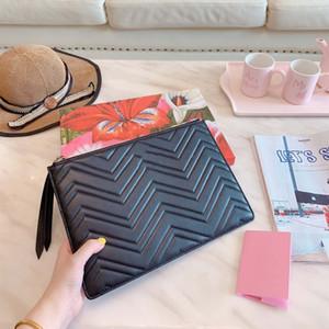 all'ingrosso della frizione di lusso del progettista bag borsa delle donne del sacchetto della borsa di marca del raccoglitore di modo frizione borse in pelle vera qualità Borsa 5A con box