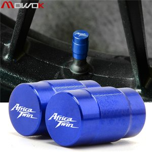 tas Covers Ornamental Mouldings moto CNC en aluminium Roue de pneu Accessorie valve caps Covers CNC Airtight pour HONDA Afrique Twi ...