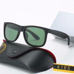 1pcs calidad UV400 gafas de sol de moda de protección alto para los hombres de las mujeres Gafas de sol del gradiente de la lente con conexión caja y la caja 4165