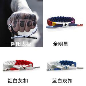 Mode-Gezeitenmarke kleiner Löwe Spitzen Armband rot und weißen Nähten Yin und Yang Tai Chi unisex Armband geflochten